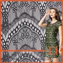 Amazing design 100%Nylon eyelash lace For Wedding Dress Manufacture