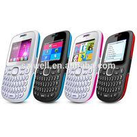 Cheap Qwerty Keyboard 2.0 INCH QVGA TV Quad Band Dual SM Card GPRS WAP Unlocked Cell Phone in Guatemala D101