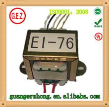 UL CE 24v pure copper EI-76 power transformer