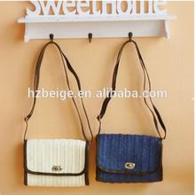 2014 the high end fashion ladies handbag straw beach bag