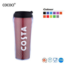 wholesale double wall thermos plastic starbucks tumbler