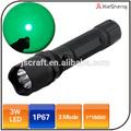 camping 18650 bateria impermeável polícia recarregável led verde lanterna de caça