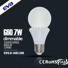 Led bulb remote phosphor 7w 800lm E27/b22