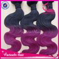 Peruano cabelo virgem, ombre hair tece, cor ombre jumbo trança de cabelo