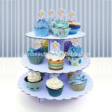 Wedding cake decorations, three tier cake stand sunbeauty arts supplier