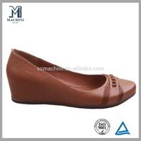 Hidden wedge heel women high heel shoe