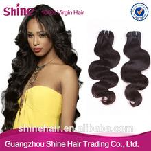 Full stock various lengths natural color body wave brazilian virgin hair hotsale