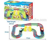 Children's cartoon B/O railway car wih light and music and 1 electronics car slot car