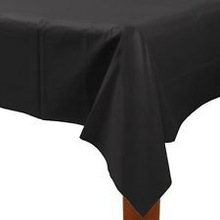 LARGE 137CM X 247CM BLACK PLASTIC TABLECOVER TABLE COVER TABLECLOTH HALLOWEEN