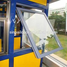 aluminium double sliding glass chain winder awning window