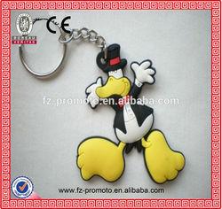 good quality advertising souvenir gift donald duck 3d soft hard pvc keychain