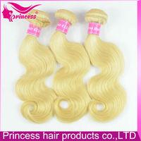 Hot selling in USA for black / white people blonde brazilian hair bundles