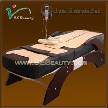 2014 hot sale adjustable jade roller massage bed