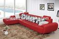 mobili soggiorno divano in pelle rossa sezionale