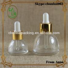 wholesale 1oz clear bell shape glass perfume bottle with alumite mist sprayer