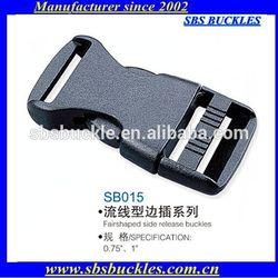SBS black Fairshaped side release buckles plastic buckles SB015