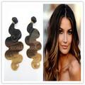 più venduto belli capelli stile 7a grado tre capelli tono umano di siti web cinese
