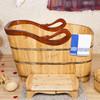 Natural cedar wood cheap freestanding bathtub