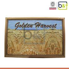 Large size golden harvest wheat printing rubber sheet floor mat
