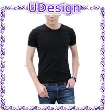 Plain black t shirts custom tee shirt blank cotton spandex mens t shirts