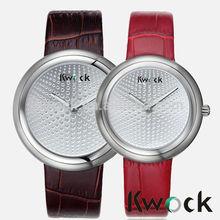 Girlfriend Boyfriend Quartz Wrist Watch Fashion Lover Valentine Watches Stainless Steel case Genuine leather Couple Watches