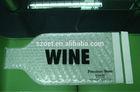 Custom clear PVC wine bag with bubble inside / wine glass bag / wine bottle air bag