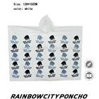 colorful printed PE raincoat rain cape poncho