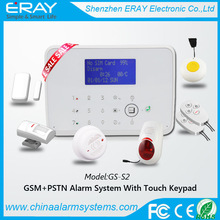 GSM + PSTN temperature control excel alarm system support Contact ID