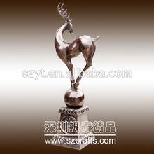 2014 OEM deer shape beautiful design good price metal sculpture