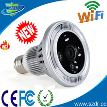 Factory Price Lamp Hidden Camera In Real-time With Wifi Support TF card Slot Hidden Camera Light Bulb