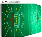 Poker Table Fabric ( casino equipment with flocking nylon and rubber materia)poker table cloth