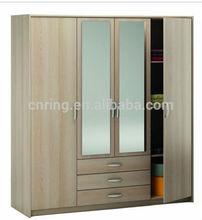 2014 home furniture glass door wardrobe