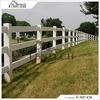 High Quality White PVC 3 Rail Fence