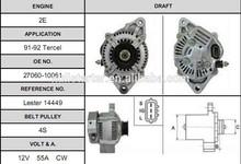 Toyota Tercel Attractive and durable auto car alternator 100211-1340 alternator