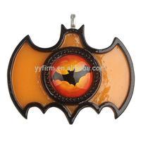 70*57mm Orange Halloween Bat Glass Cabochon Resin setting Bat Picture Frame Pendants