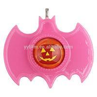 Pink 70*57mm Halloween Bat Resin Setting Framed Halloween Pumpkin Pendants