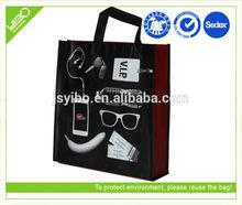 Reusable customized pembekal non woven bag murah tote shopping bag