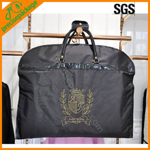 High quality foldable polyester fabric suit cover bag with embroidery logo