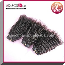 hot selling hair texture in kinky curl sew in hair weave can be dyed and no shedding