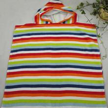 100% pure cotton reactive print Velour child bath cape bath towel kids hooded poncho towel
