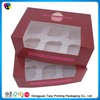 cupcake paper box with pvc/pet clear window made in china supplier/manufacturer