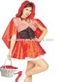 Chapeuzinho vermelho fantasia princesa léia traje fantasia vestido traje qawc- 2275