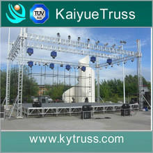 outdoor concert event mobile stage & truss