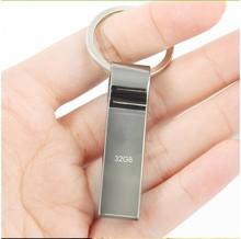Waterproof Metal USB Flash Drive 64gb pen drive 64GB 32GB 16GB 8GB Flash Drive with key ring free shipping