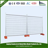 Construction Metal temporary fencing for private functions