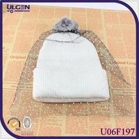 wholesale cheap winter voile beanie for women fashion cap hat