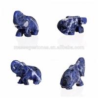Hot seller sodalite elephant carving gemstone elephant
