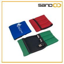 triple usb flash drive bag holder pouch, tank bag
