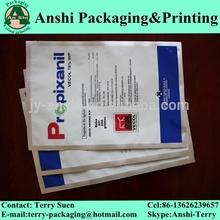 Folha de impressão alimentação bolsa de alumínio sachê para a alimentação