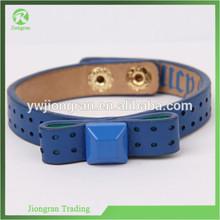 JP17 Acrylic Luxury rivet Leather Braclets fashion Genuine Leather braclet hand jewelry punk luxury Bracelet
